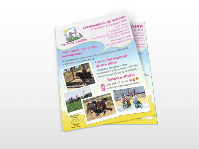 Pony Summer Camp flyer